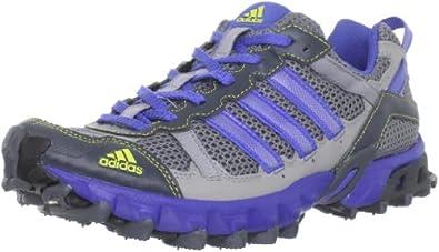 adidas Women's Thrasher Trail Running Shoe,Tech Grey/Lab Blue/Lab Lime,10.5 M US