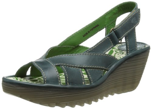 Fly London Women's Yisa Petrol Slingbacks P500391001 5 UK