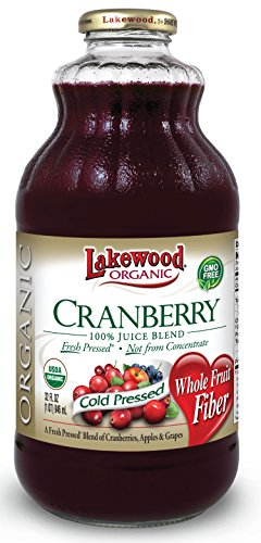 Lakewood Organic Cranberry Juice Blend, 32-Ounce Bottles (Pack of 6) (Apple Juice Pure Pressed compare prices)