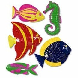 Plastic Fish Party Accessory (1 count) (5/Pkg) - 1