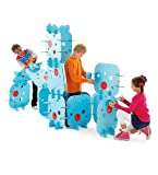 Large-Scale Habitadule Construction Pieces, Set of 16 with 64 Connectors, in Blue