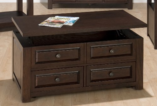 Buy low price jofran 484 5 russo lift top castered coffee table b0048wel6u coffee table Jofran lift top coffee table