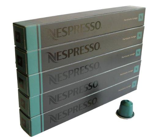 Get Nespresso Capsules green - 50x Fortissio Lungo - Original Nestlé - Lungo Coffee by Nespresso
