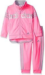 Adidas Little Girls\' Fashion Active Tricot Jacket Set, Ultra Pop, 6