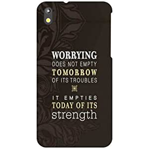 HTC Desire 816 Back Cover - Worrying Designer Cases