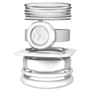 Vestal Women's SET003 The Set All White Assorted Bangle Watch