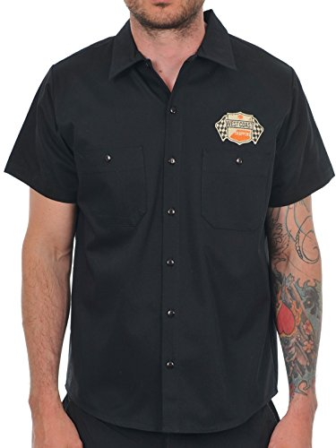 Camicia A Maniche Corte West Coast Choppers Cheating Death Nero (S , Nero)