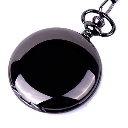 pocket-watch-quartz-movement-black-case-white-dial-arabic-numerals-with-chain-full-hunter-design-pw-