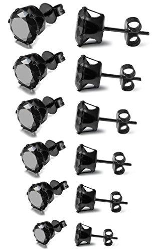 Jstyle-3-8mm-Zirkonia-Ohrstecker-Herren-Ohrringe-Herrenohrstecker-Schwarz-mini-Ohrstecker-Set-Modeschmuck-mit-6-Paare-pro-Set-fr-Damen
