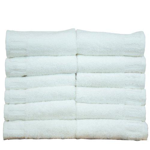 Luxury Hotel & Spa Towel 100% Genuine Turkish Cotton Piano (WHITE, Wash Cloth  - Set of 12) (Luxury Hotel Wash Cloth compare prices)
