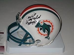 Paul Warfield Autographed Miami Dolphins Mini Helmet (JSA COA) by Miller