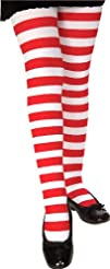 Red and White Striped Tights – Child…