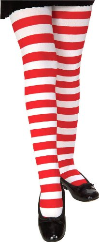 Red and White Striped Tights - Child - Accessories & Makeup
