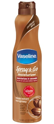 Vaseline Spray and Go Moisturizer in Cocoa Radiant, 6.5 Ounce