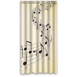 Music art musical notes bathroom decor 100 for Bathroom ideas amazon