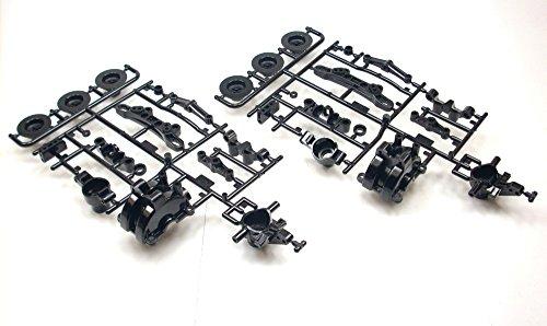 Tamiya-110-TT-02-Chassis-51527-A-Teile-Achsschenkel-Radmitnehmer-T2R