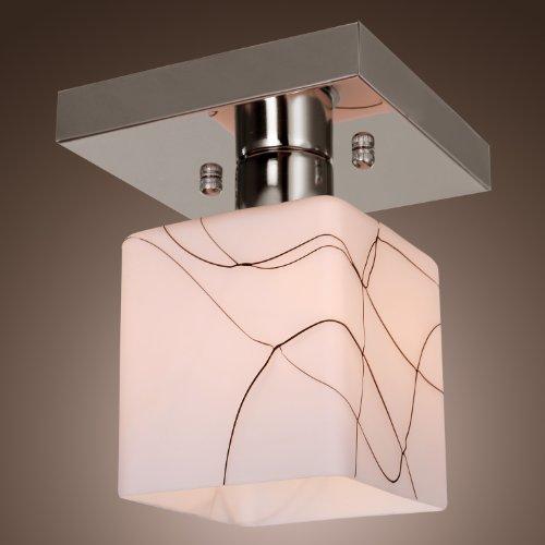 Lightinthebox® Stainless Steel Ceiling Light In Cube Shape, Modern Mini Style Flush Mount For Kitchen