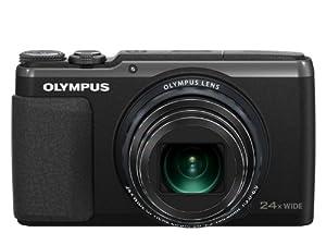 Olympus Stylus SH-50 Appareil photo numérique compact 16 Mpix Écran LCD tactile 3'' Zoom optique 24x Stabilisation 5 axes Noir