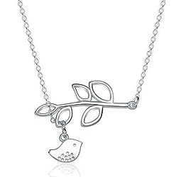 Sorella'z Bird Leaf Calvice Necklace for Girls