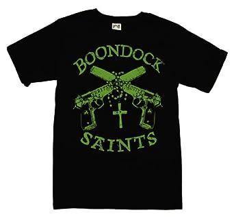 Boondock Saints - BoondockGuns and Rosary Mens T-Shirt in Black, Size: XXX-Large, Color: Black