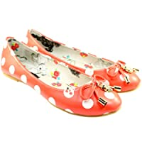 Womens Iron Fist Lamby Ballerina Flat Orange Shoes
