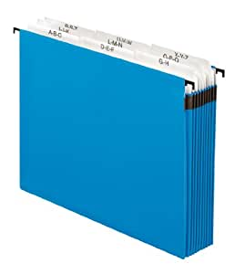 Pendaflex Surehook Reinforced Expandable Hanging Files, Letter size, Blue (59225)