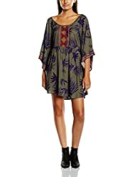 Roxy Women's Rayon Skater Dress (ARJWD03085_Indo Floral and Dusty Olive_M)