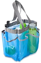 Honey-Can-Do SFT-01103 Quick Dry Shower Tote, 7-Pocket, Blue