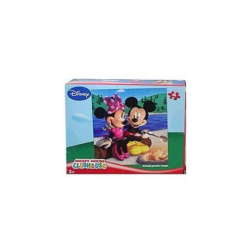 Cheap Fun Disney Mickey Mouse Clubhouse 24-Piece Jigsaw Puzzle (Mickey and Minnie by Bonfire) (B00394T7YE)