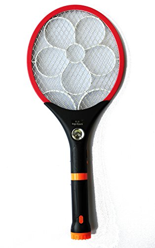 Electric LED Bug Fly Mosquito Zapper Swatter Killer Control with Built-in Rechargeable Batteries - 2400 Volts (Color may Vary)