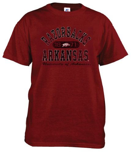 NCAA Arkansas Razorbacks Men's Crew Neck Tee (Cardinal, Large) at Amazon.com