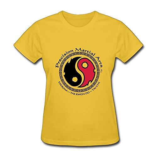 Women's Tshirts Precision Martial Arts Size XXL Yellow