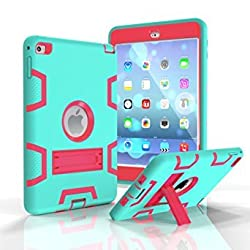 Eastchina® Quality Style Super Light Weight 3 in 1 Convertible Stands Cute Kids Child Shock Proof Protective Stand Case For iPad Mini 4 Tablets (Z-Green)