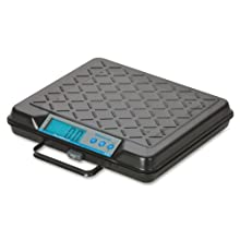 "Salter-Brecknell GP100 Electronic General Purpose Portable Bench Scale with LCD Display, 10-15/16"" Length x 12-1/2"" Width x 2-3/16"" Height, 100lbs Capacity"