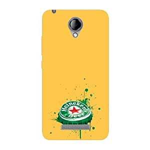 Kaira brand Designer Back Case Cover for Karbonn Titanium MachFive(Melting Beer cap)