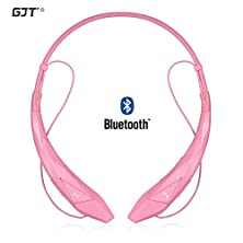 buy Gjt®Hbs-902 Wireless Stereo Bluetooth 4.0 Headsets Headphones Flex Neck Strap Earbuds Lightweight Noise Cancelling Earphones For Iphone,Samsung,Android Cellphones Enabled Bluetooth Device(Pink) ...