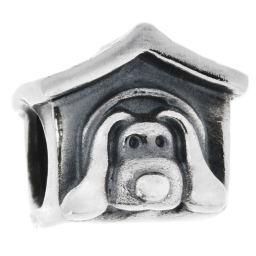 Genuine PANDORA Silver Dog House Charm 790592EN27