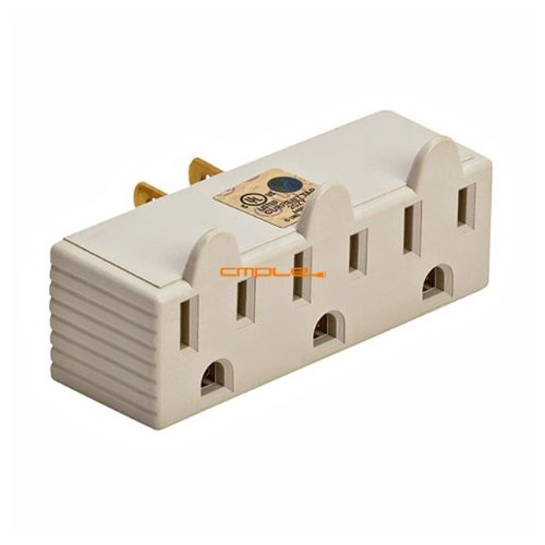 Cmple 3-Outlet Wall Adapter