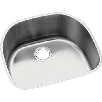 Elkay ELUH2118 Harmony Lustertone Undermount Sink, Stainless Steel