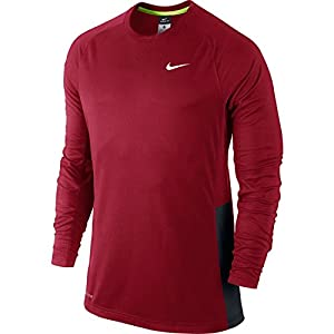 Nike Mens Crossover Long Sleeve Basketball Shirt (Gym Red, XX-Large)
