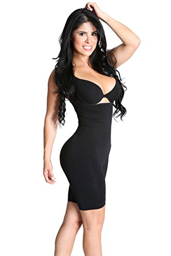 Smok69 Butt Lifter And Thigh Slimmer - Covered Back 3-1 Bodyshaper - Black - S/M