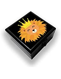 Colorpur Lion Head With Crown Designer Decorative Wooden Jewellery / Accessory Box   Artist: Torben