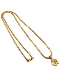 Jewar Jewellery Gold Plated Om Ganesh Ganpati Pendant For Men Women,Locket Jewellery Set God Pendant With Chain...