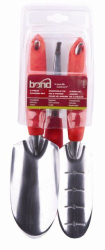 Bond 1280B 3 Piece Gardening Tool Set With Trowel, Cultivator And Transplanter