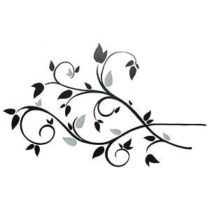 RoomMates - Pegatinas decorativas reutilizables para pared, diseño de ramas y hojas de RoomMates