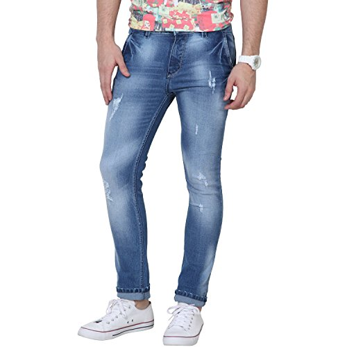 SUPER-X Men's Ripped Fit Jeans