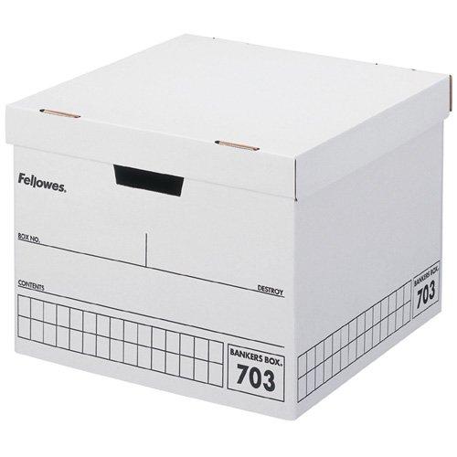 フェローズ バンカーズボックス 703ボックス B4ファイル用 黒 3枚パック 内箱 5段積重ね可能 対荷重30kg