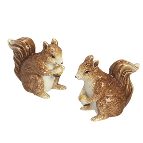 Squirrel Salt and Pepper Shakers Set S/P by Andrea by Sadek