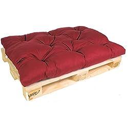 Acolchado para Euro palé, palé acolchado, palé Cojín 120x 80x 15cm, color rojo