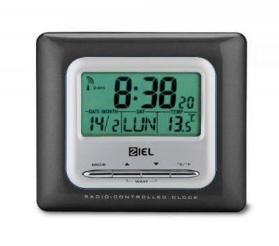 Stazione Metereologica Ziel Polaris 40 Black Nero - Termometro Orologio Radio Controllato